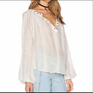 Free People Against All odds sheer Blouse Top